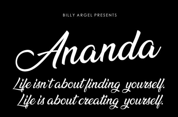 Ananda Script Font