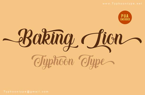 Baking Lion Font