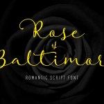 Rose of Baltimore Script Font