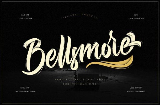 Bellsmore Brush Font