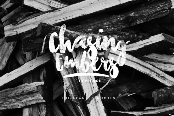 Free Chasing Embers Font