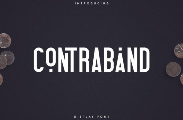 Contraband Display Font