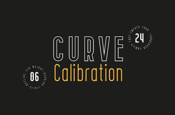 CURVE Calibration Typeface
