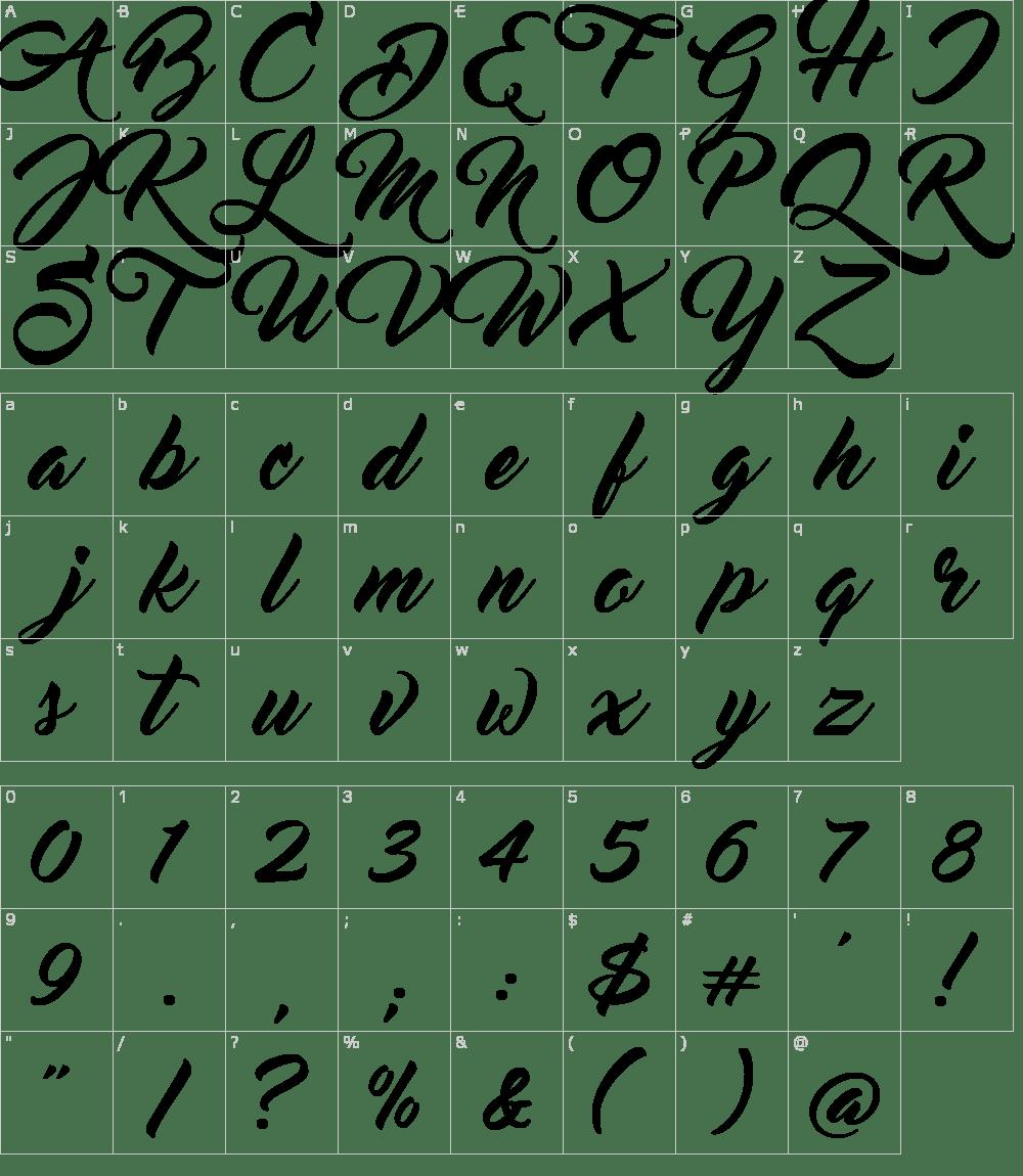 master-of-break-font-character-map