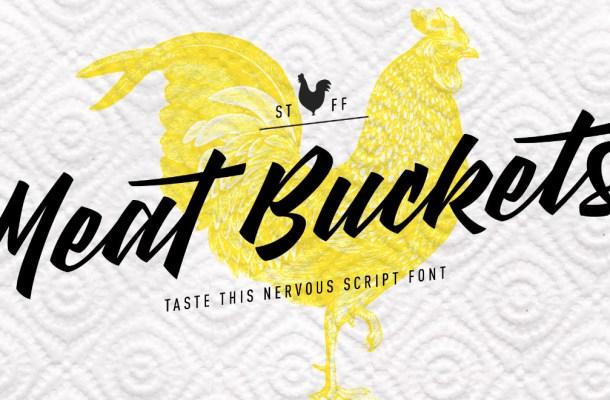 Meat Buckets Script Font