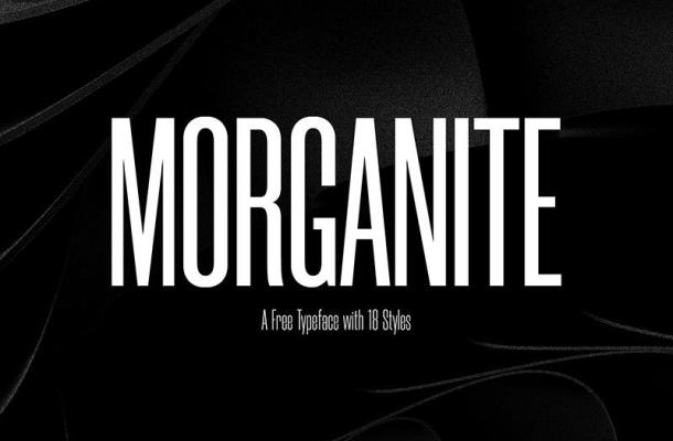Free Morganite Condensed Font