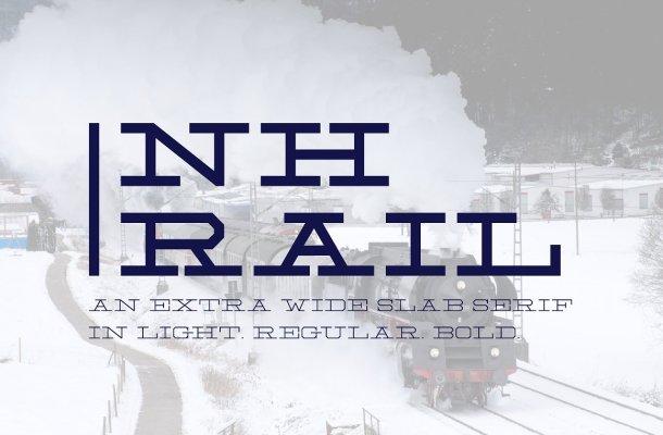 NH Rail Slab Typeface