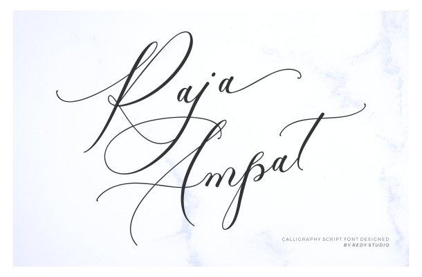Raja Ampat Calligraphy Font