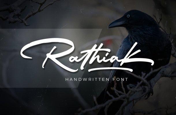 Rathiak Handwritten Font