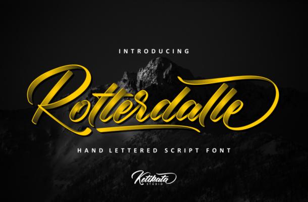 Rotterdalle Script Font