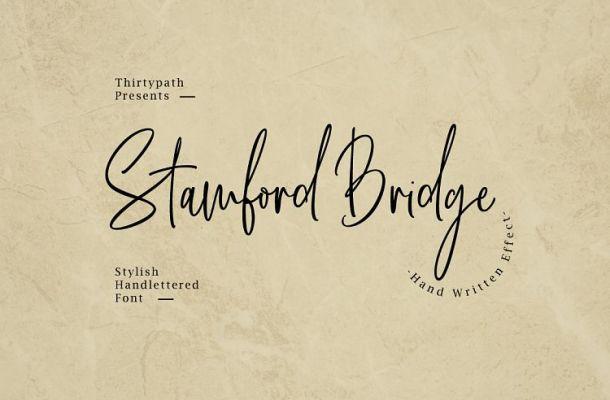 Stamford Bridge Script Font