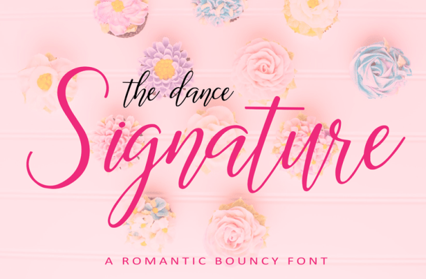 The Dance Signature Font