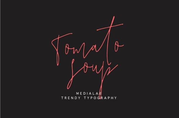 Free Tomato Soup Handwritten Font