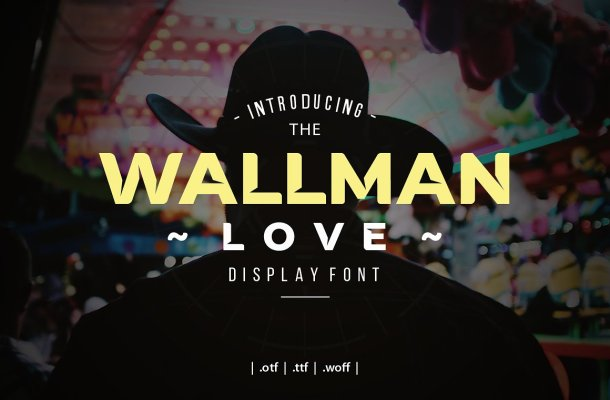 Wallman Love Display Font