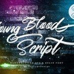 Young Blood Script Font