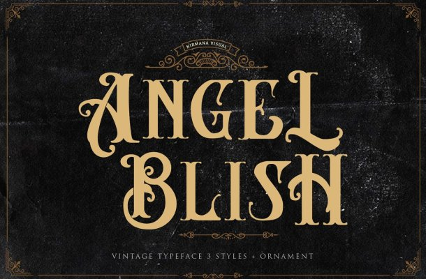 Angel Blish Family Font