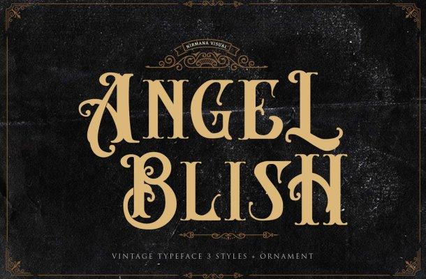 Angel Blish Family Font