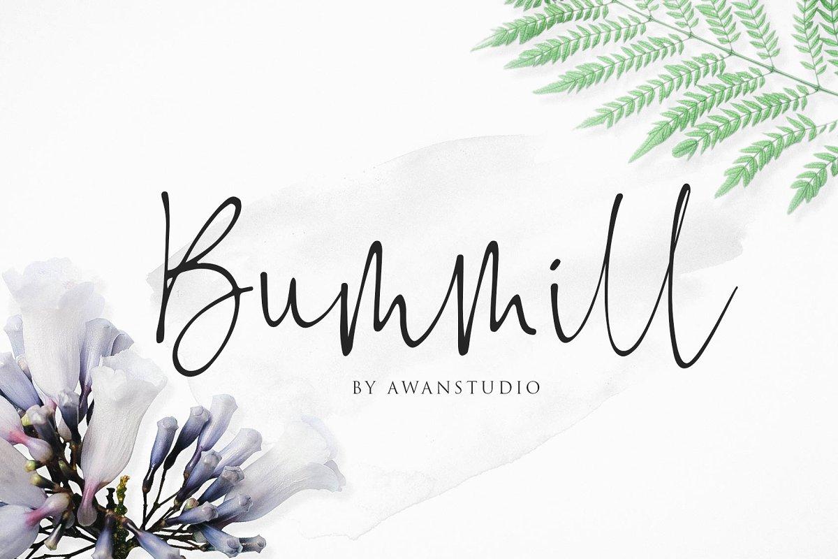 Bummill Signature Font - Free Fonts