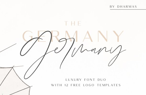 Germany Luxury Font Duo