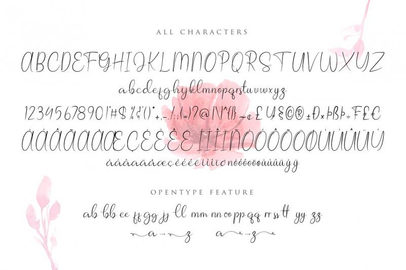 Allagia Script Font-2