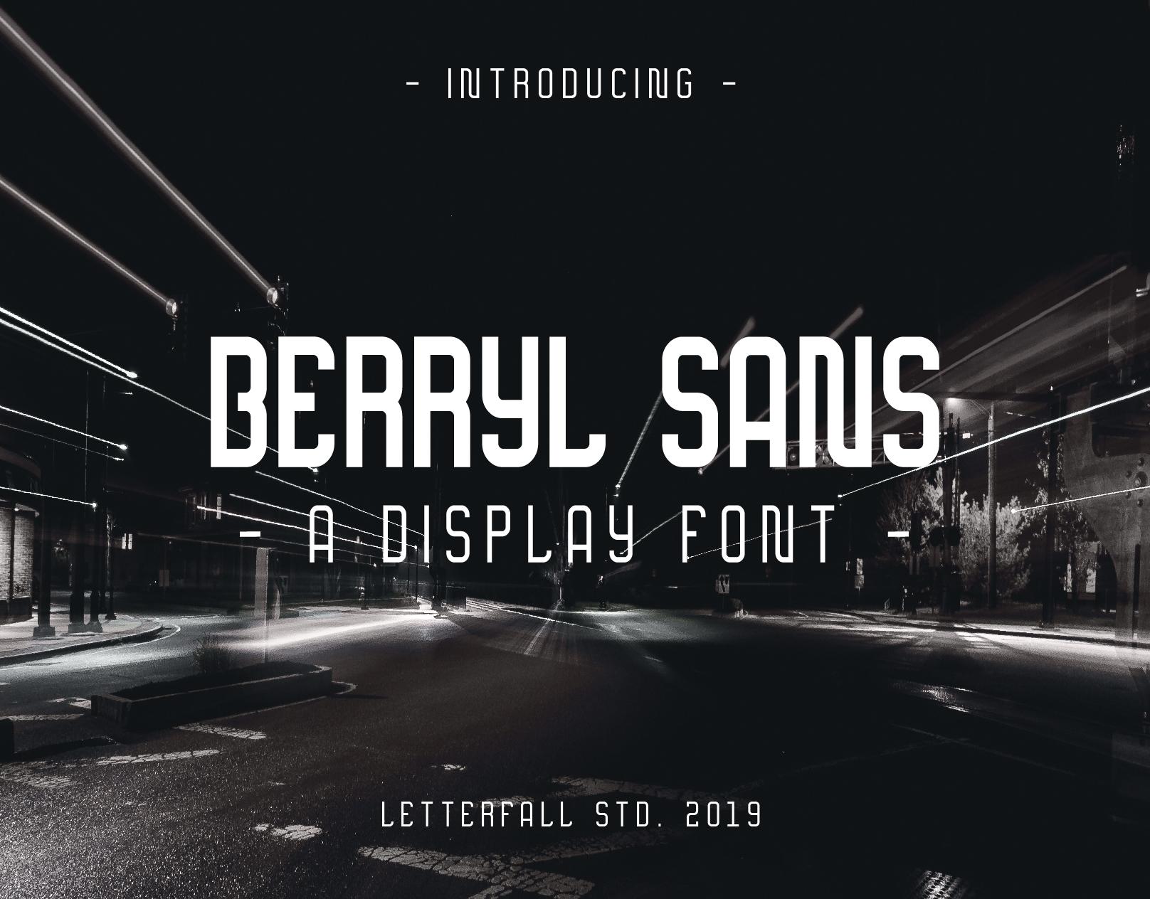 Berryl Sans Serif Font - Free Fonts