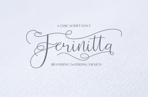 Ferinitta Calligraphy Font