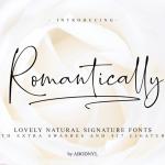 Romantically Script Font