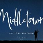 Middletown Brush Font