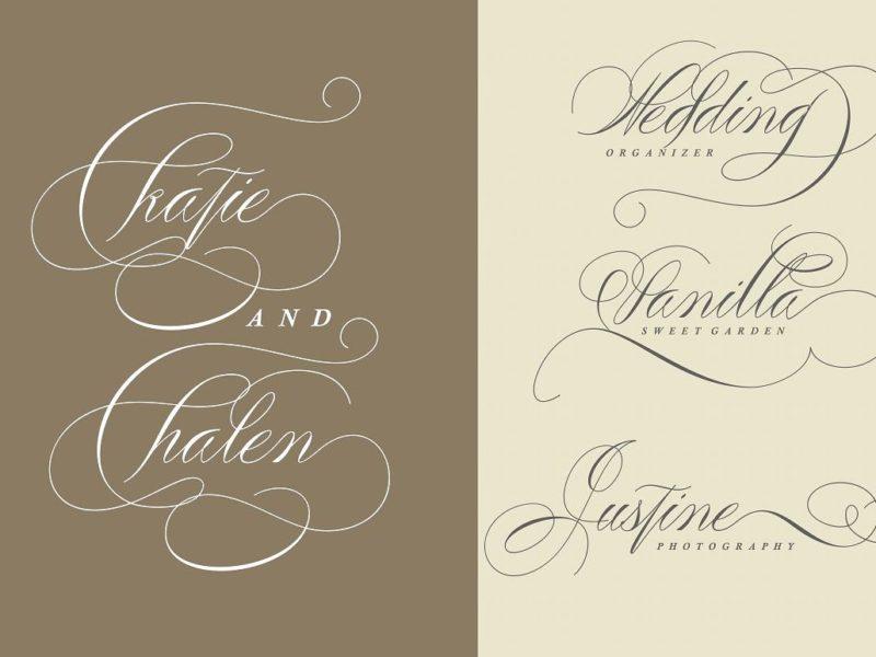 Peaches Calligraphic font-2