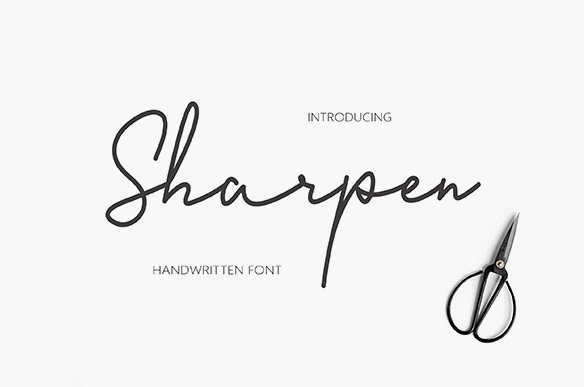 Sharpen Handwriting Font