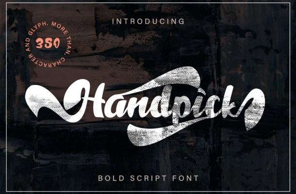 Handpick Bold Script Font