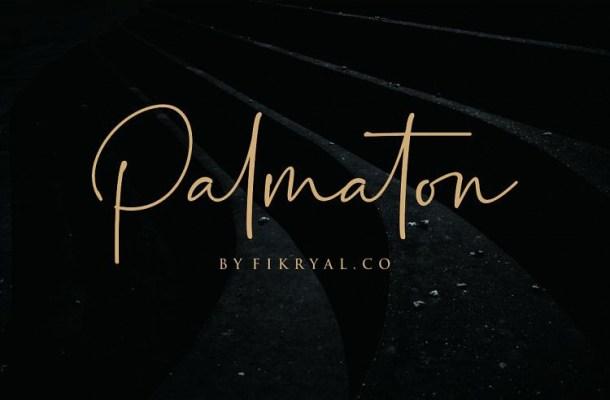 Palmaton Handwritten Font