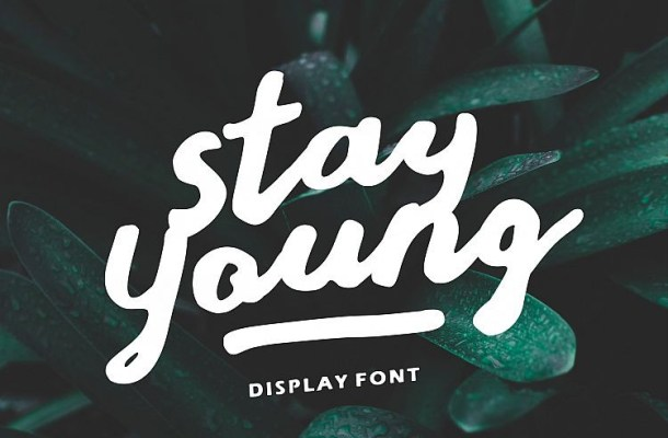Stay Young Script Font