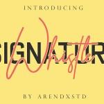 Whistle Signature Font