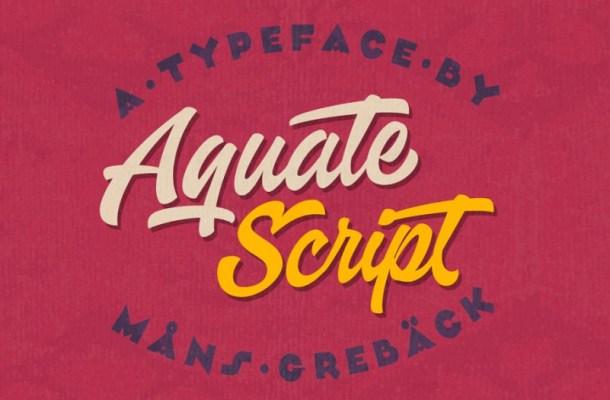 Aquate Script Font