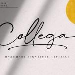 Collega Signature Font