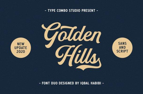 Golden Hills Script Font