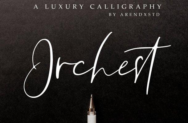 Orchest Script Font