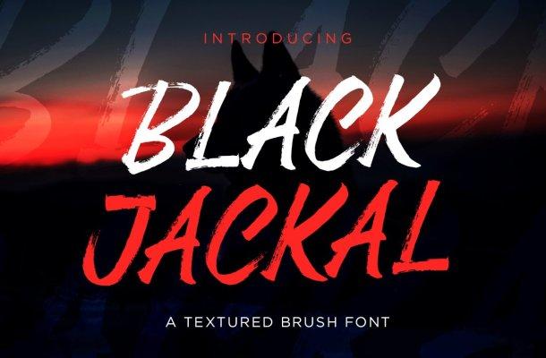 Black Jackal Brush Font