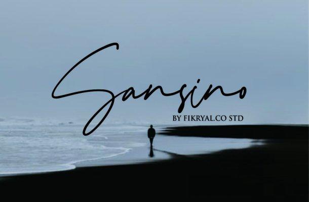 Sansino Handwritten Font