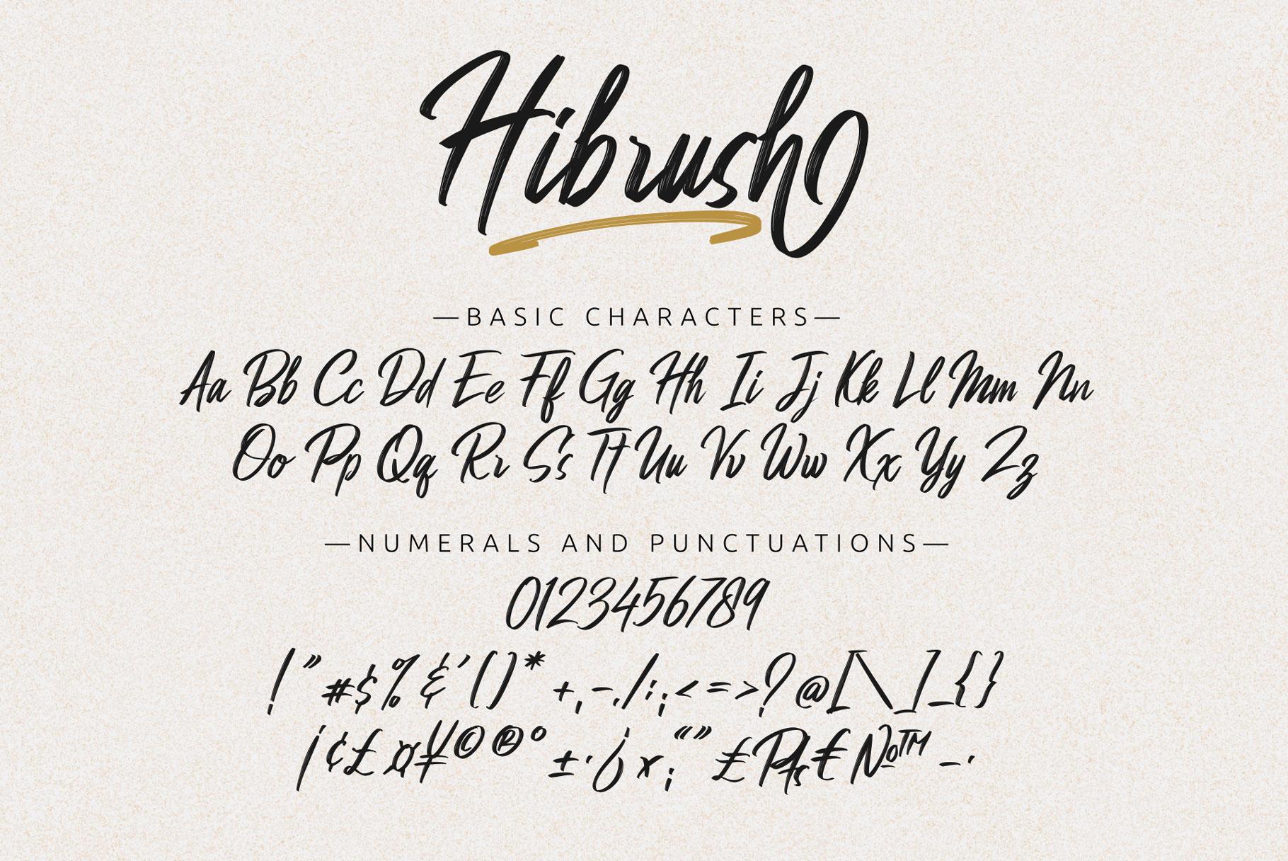 Hibrush Font03