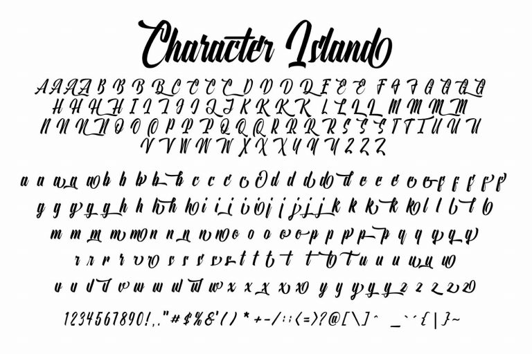 Onthel Calligraphy Font-3