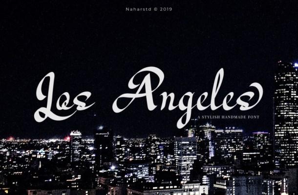 Los Angeles – Modern Script Font