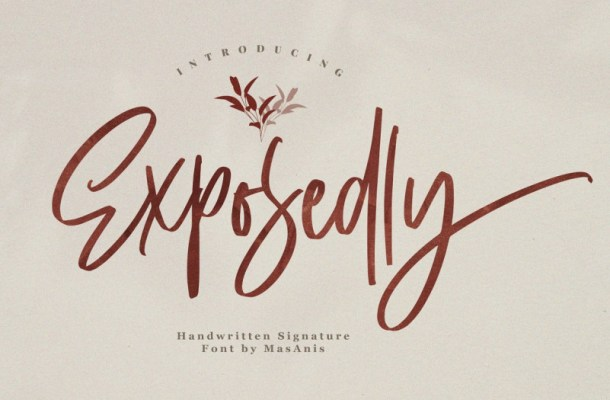 Exposedly Signature Script Font