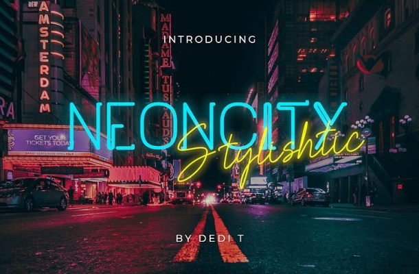 Neoncity Font Duo