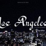 Los Angeles Modern Script Font