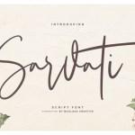 Sarvati Script Font