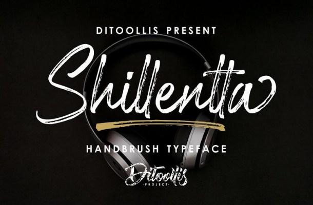 Shillentta Brush Font