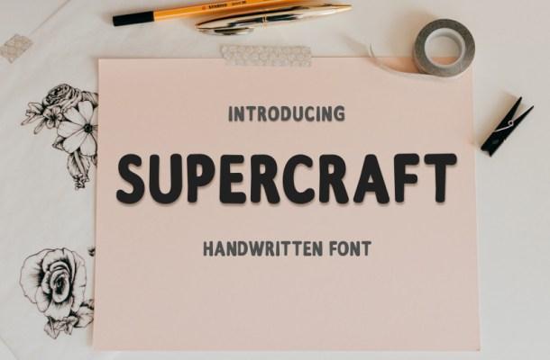 Supercraft Free Font