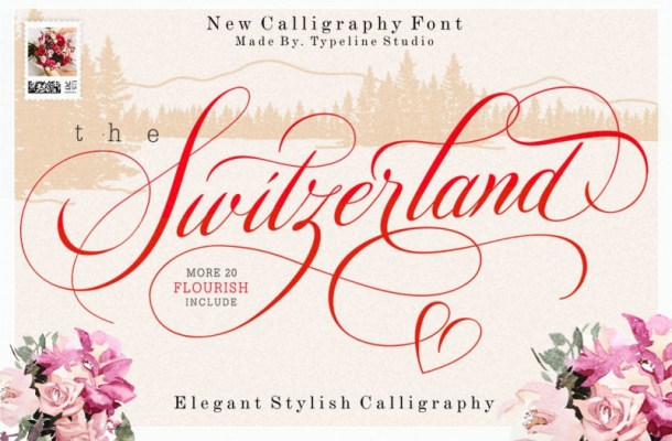Switzerland Calligraphy Font